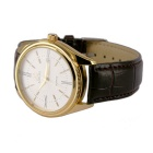 AIMEINI Men's Roman Numerals Calendar Quartz Watch - Brown + White