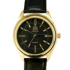 AIMEINI Men's Roman Numerals Calendar Quartz Watch - Black