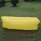 Inflatable Folding Sleeping Lazy Bag for Outdoor Camping - Yellow