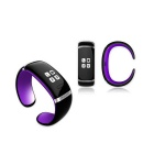 KICCY Trendy L12S OLED Bluetooth Smart Bracelet Watch - Purple + Black