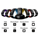 KICCY Trendy L12S OLED Bluetooth Smart Bracelet Watch - Orange + Black