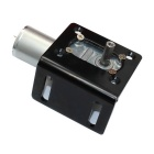 DC12V 90 rpm Rotary Turbo Reduction Gear Motor - musta