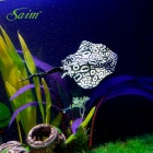 Saim BR-S080 Aquarium Decoration Spot Devil Rays - White + Black