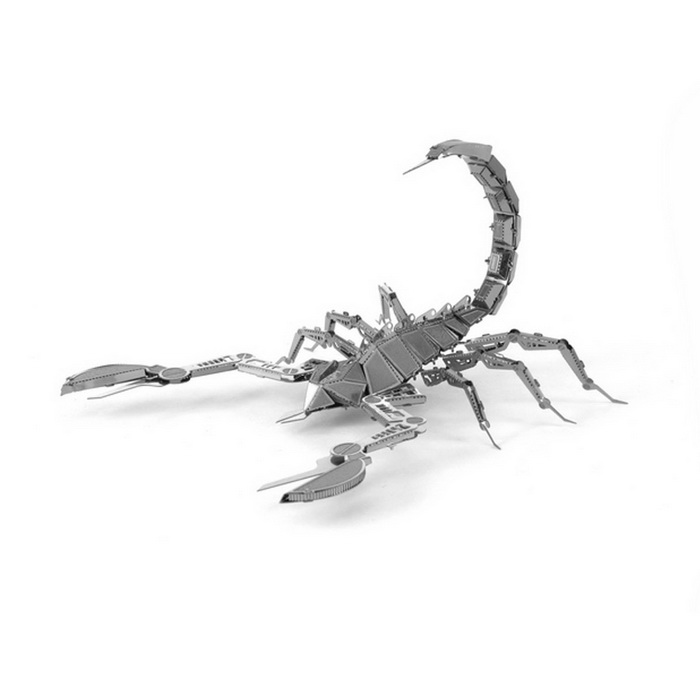 3D Tridimensional DIY Assembly Modelo Scorpion - Prata
