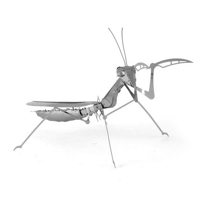 3D Three-Dimensional DIY Assembly Model Mantis - Silver