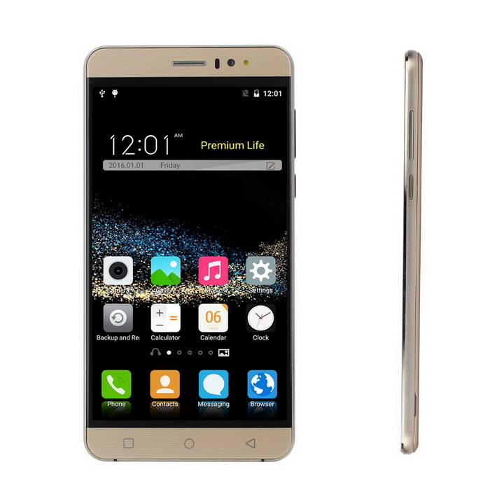 "K800 Android 5.1 Smartphone w/ 6.0"" Screen, 1GB RAM, 8GB ROM - Golden"