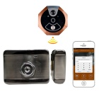 Smart Wi-Fi Video Doorbell Peephole Phone 720P Intercom Doorbell