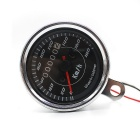 CS-296A1 12V LED Motorcycle Modified Retro Odometer - Silver