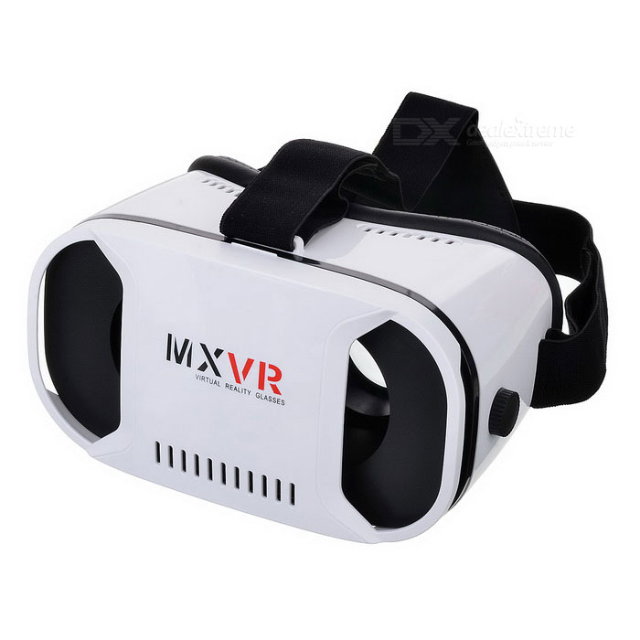 Virtual Reality 3D Glasses - White + Black