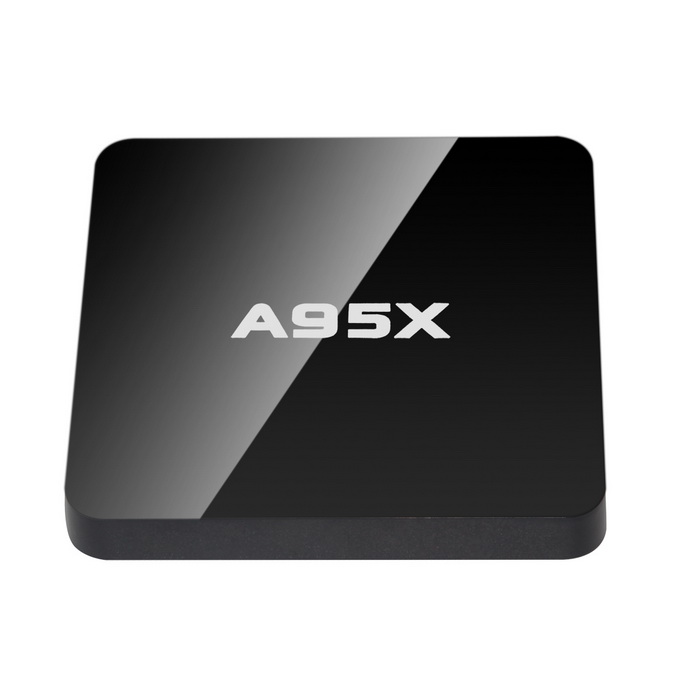 A95X 4K Ultra HD Super Mini Android TV Box w/ 1GB RAM, 8GB ROM - Black