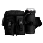 1005 Conveniente Outdoor Tactical Nylon cintura Bag - Black (20L)