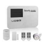 GSM Wireless Smart Alarm Systems w/ Learning Code - White (UK Plug)