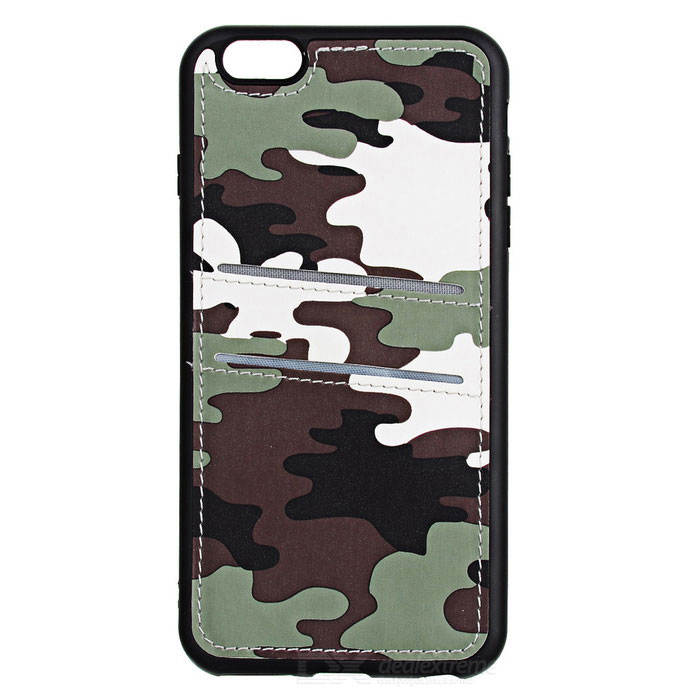 Mini Back Case for IPHONE 6/6S Plus w/ 2 Card Slots - Camouflage