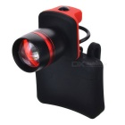 3W 3-Mode 220lm Cool White Light LED Headlamp - Black + Red (3 * AAA)