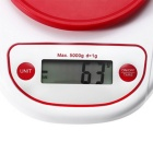 Precise Electronic Digital Kitchen Scale with Bowl - Red