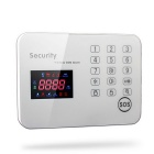 Touch Keypad Color Screen GSM Alarm System - White (UK Plug)