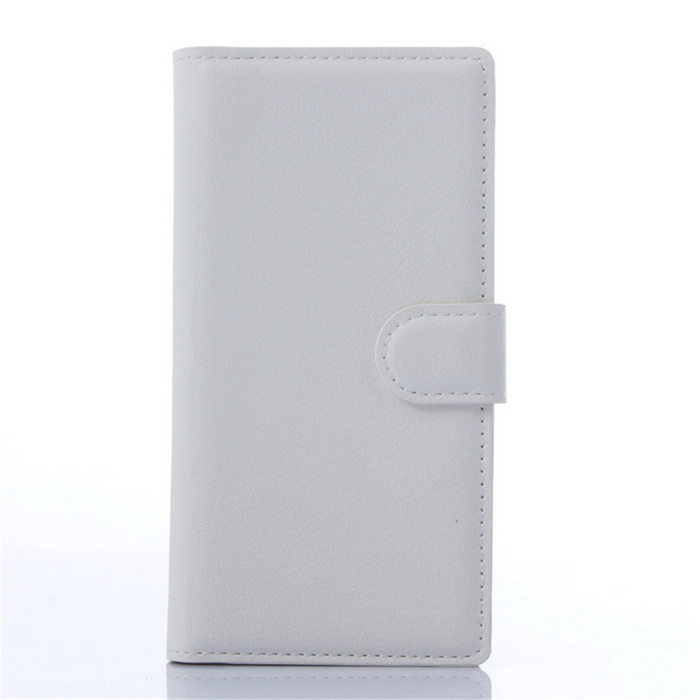 Lichee Pattern Protective Case for ZTE BLADE Vec 4G - White