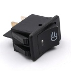 12VWUPP Modified Car Fog Light Switch w/ LED Rocker Switches - Black