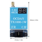FPV 5.8G 40CH TX1000 1000MW 7-26V Wireless AV Transmitter Immagine