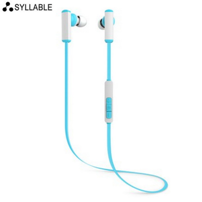 Syllabe D300 Bluetooth In-ear Sport Earbuds w / Switch Mic Song - Bleu