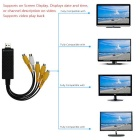 4-Channel USB 2.0 DVR Video Capture & Audio Record Card Adapter -Black