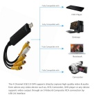 4-kanaals USB 2.0 DVR video-opname en audio op te nemen card adapter-zwart