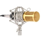 Studio Recording Microphone + Shock Mount + Wind Sponge - Black + Gold