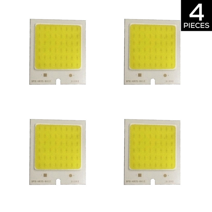 YouOkLight YK0407 4W 48-COB LED Chip 480mA Warm White for DIY (4 PCS)Leds<br>ModelYK0407MaterialAluminumForm  ColorYellow + SilverQuantity4 DX.PCM.Model.AttributeModel.UnitPower4 DX.PCM.Model.AttributeModel.UnitRate VoltageDC 12VWorking Current480 DX.PCM.Model.AttributeModel.UnitDimmableNoEmitter TypeCOBTotal Emitters1Color BINWarm WhiteBeam Angle180 DX.PCM.Model.AttributeModel.UnitColor Temperature3000KActual Lumens320 DX.PCM.Model.AttributeModel.UnitConnector TypeOthersPacking List4 * LED Bulbs<br>