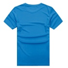 Outdoor Sports Fitness Men's Slim Short-Sleeve T-Shirt - Blue (XXL)
