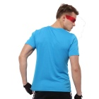 Outdoor Sports Fitness Men's Slim Short-Sleeve T-Shirt - Blue (L)