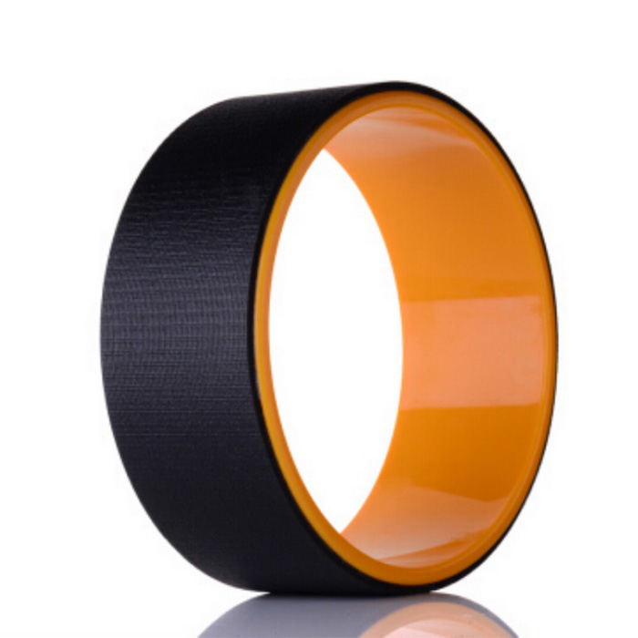Yoga Pilates Roll Biegen Auxiliary Wheel Ring Hoop - Schwarz + Orange