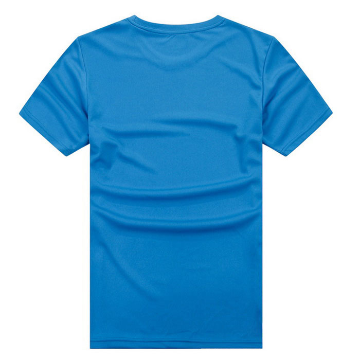 Outdoor Sports Fitness Männer Slim Kurzarm T-Shirt - Blau (XL)
