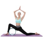 Yoga Pilates Roll Bending Auxiliary Wheel Ring Hoop - Preto + Azul