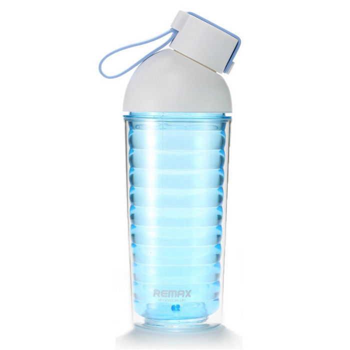 Remax RCUP-10 Portable 370ml Plastic Water Bottle Kettle Cup - Blue