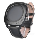 IPS Screen Bluetooth V3.0 + V4.0 Stainless Steel Smart Watch - Black