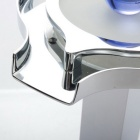 Contemporary Chrome Brass Two Handles Three Holes LED Bathroom Faucet