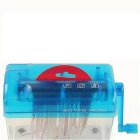 Mini Lightweight Desktop Manual Shredder - Blue