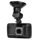 1080P Full HD Car DVR w/ Two Cameras - Black