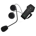 Remote Control BT Headset Intercom Motorcycle Interphone (US Plug)
