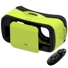 LEJI Mini VR 3D Google Glasses + Bluetooth Remote Control - Green