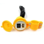 CS-277 12V Motorcycle Scooter Waterproof USB Charger - Yellow