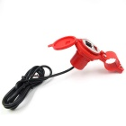 CS-277 12V Motorcycle Scooter Waterproof USB Charger with Switch - Red