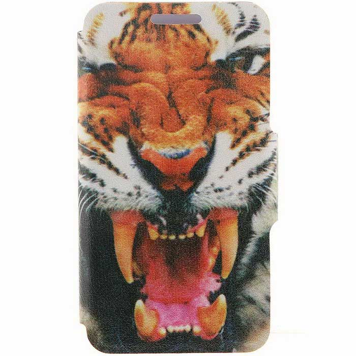 SZKINSTON Tiger Pattern PU Leather Case for Samsung Galaxy S6