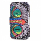 SZKINSTON Eyes Pattern PU Leather Case for Samsung Galaxy S6 Edge