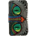 SZKINSTON Shining Eyes Pattern PU Leather Case for Samsung Galaxy S6