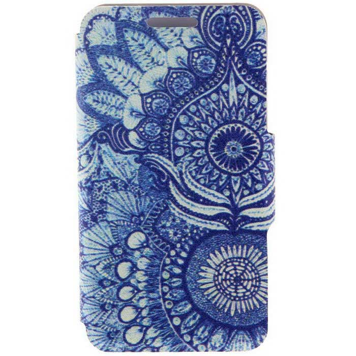 SZKINSTON Retro Flower Pattern PU Leather Case for Samsung Galaxy S6
