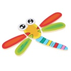 Dragonfly Shaped Puzzle Wooden Blocks Cartoon Toy - Yellow