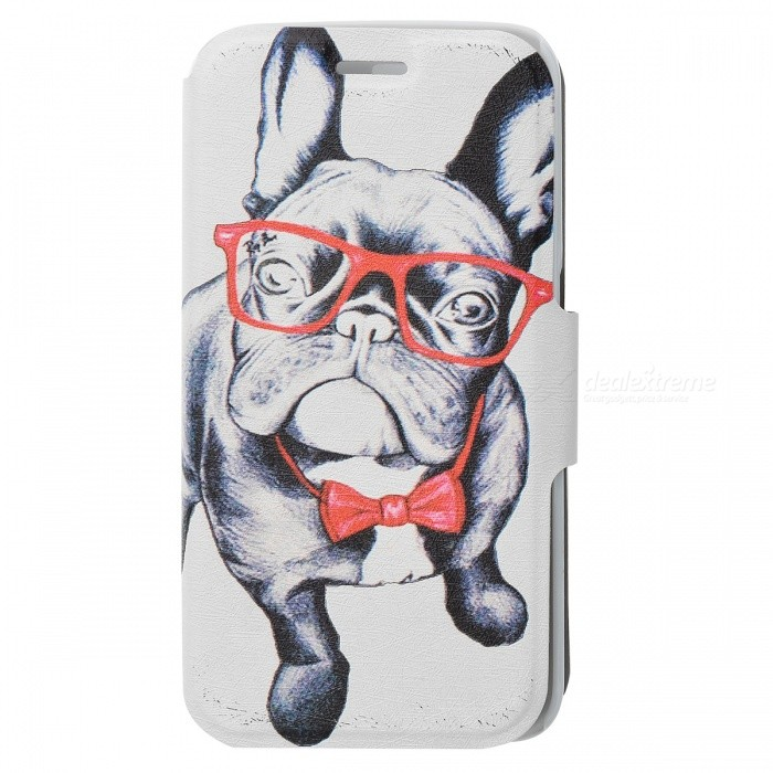 SZKINSTON Dog Pattern PU Leather Case for Samsung Galaxy S6 Edge