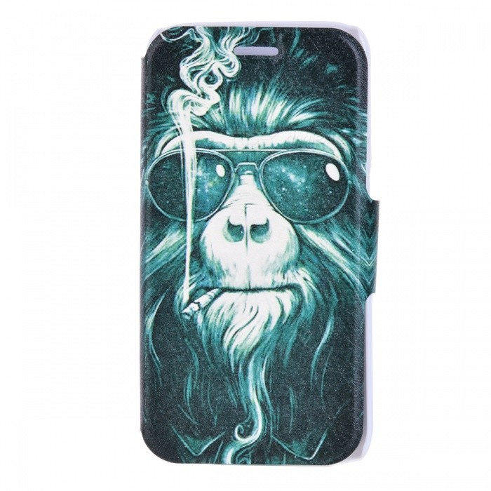SZKINSTON Smoking Monkey Pattern PU Leather Case for Samsung Galaxy S6Leather Cases<br>Form  ColorBlack + White + Multi-ColoredModelKST1606106MaterialPU Leather + PCQuantity1 DX.PCM.Model.AttributeModel.UnitShade Of ColorBlackCompatible ModelsSamsung Galaxy S6FeaturesDust-proof,Shock-proof,Abrasion resistance,Holder functionPacking List1 * Case<br>