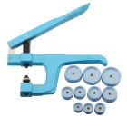 Watch Back Case Repair Metal Tools With 10 Dies - Blue